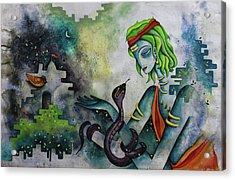Love Of Shiva Acrylic Print by Rohan Sandhir
