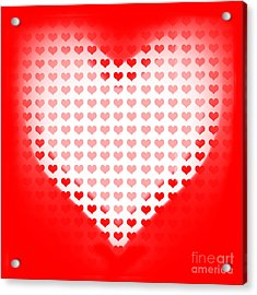 Love Of Valentines Background. Big Red Heart Acrylic Print by Jorgo Photography - Wall Art Gallery