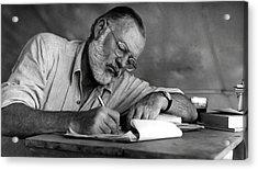 Love Of Writing - Ernest Hemingway Acrylic Print
