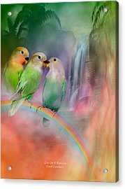 Love On A Rainbow Acrylic Print