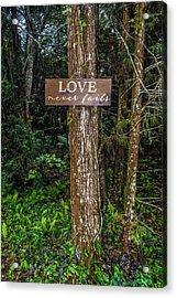 Love On A Tree Acrylic Print by Josy Cue