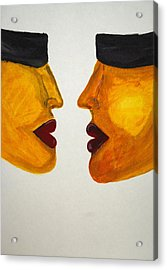 Love-on-line Acrylic Print by Irum Iftikhar