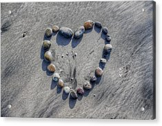 Love On The Rocks Acrylic Print by Jane Linders