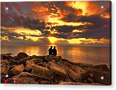 Love On The Rocks Acrylic Print
