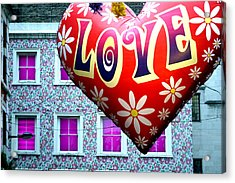 Love On The Roof Tops Acrylic Print by Jez C Self