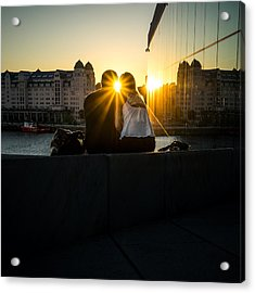 Love - Oslo, Norway - Color Street Photography Acrylic Print