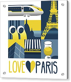 Love Paris  Acrylic Print