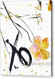 Love Perseveres Xo Collage Acrylic Print by Anahi DeCanio