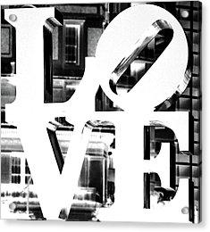 Love Philadelphia White  Acrylic Print