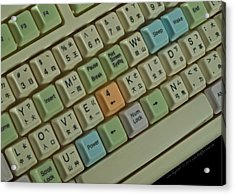 Love Puzzle Keyboard Acrylic Print