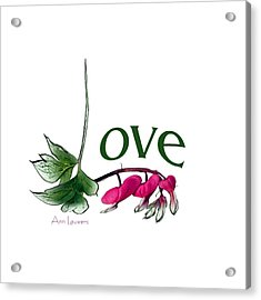 Love Shirt Acrylic Print