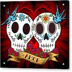 Love Skulls Acrylic Print by Tammy Wetzel