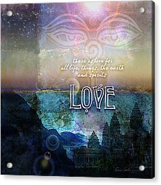 Acrylic Print featuring the photograph Love Spiritual by Evie Cook