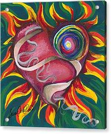 Love Acrylic Print by Susan Cooke Pena