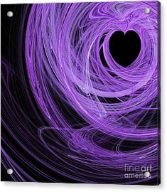 Love Swirls . Square . A120423.689 Acrylic Print