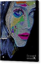 Acrylic Print featuring the digital art Love The Way You Look by Rafael Salazar