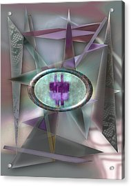 Love Triangles 2 Acrylic Print by Warren Furman