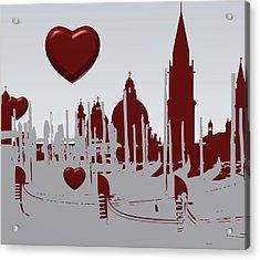 Love Venice Acrylic Print