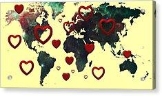 Love World Map 2 Acrylic Print