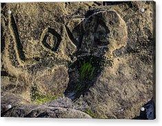 Love Written In Stone Acrylic Print