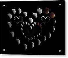 Love You To The Moon And Back Acrylic Print by Betsy Knapp