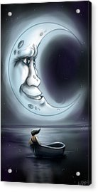Love You To The Moon  Acrylic Print
