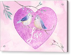 Lovebirds For Valentine's Day, Or Any Day Acrylic Print