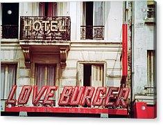 Loveburger Hotel Acrylic Print