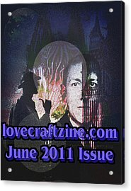 Lovecraftzine Coverpage June Acrylic Print by Mimulux patricia no No