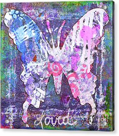 Loved Butterfly Acrylic Print