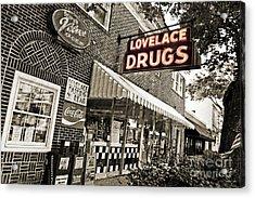Lovelace Drugs Acrylic Print by Scott Pellegrin