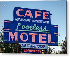 Loveless Cafe And Motel Sign Acrylic Print