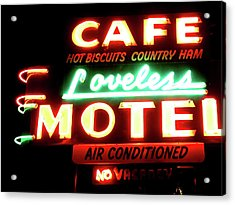 Loveless Cafe- Art By Linda Woods Acrylic Print by Linda Woods