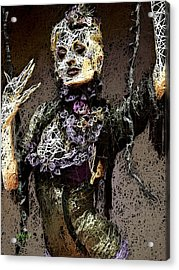 Acrylic Print featuring the mixed media Lovely Agony by Al Matra
