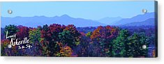 Lovely Asheville Fall Mountains Acrylic Print