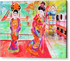 Lovely Asian Ladies Acrylic Print