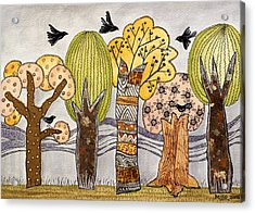 Lovely Autumn Acrylic Print by Graciela Bello