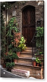 Lovely Entrance Acrylic Print by Prints of Italy