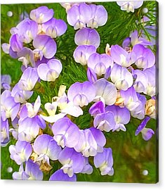 Lovely #purple #flowers Beg Your Acrylic Print