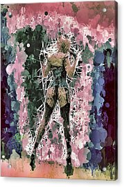 Acrylic Print featuring the mixed media Lovely Silhouette by Al Matra