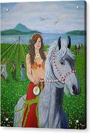 Lover / Virgin Goddess Rhiannon - Beltane Acrylic Print