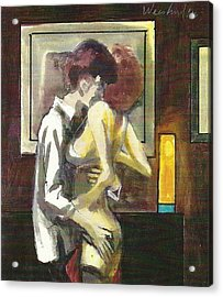 Lovers 111 Acrylic Print by Harry  Weisburd