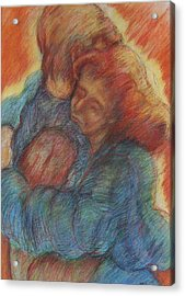 Lovers Embrace Acrylic Print