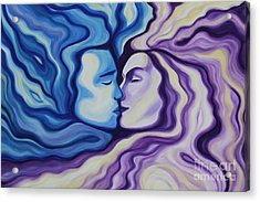Lovers In Eternal Kiss Acrylic Print