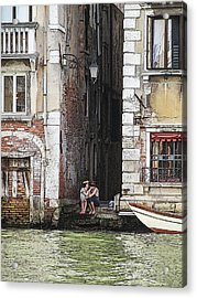 Lovers In Venice Acrylic Print