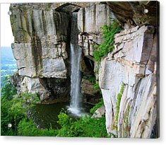 Lover's Leap Waterfall Acrylic Print by April Patterson