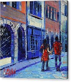 Lovers Acrylic Print by Mona Edulesco