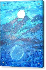 Lover's Moon Acrylic Print by BJ Abrams