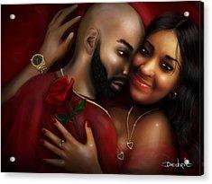 Lovers Portrait Acrylic Print