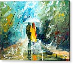 Lover's Stroll Acrylic Print by Jessilyn Park